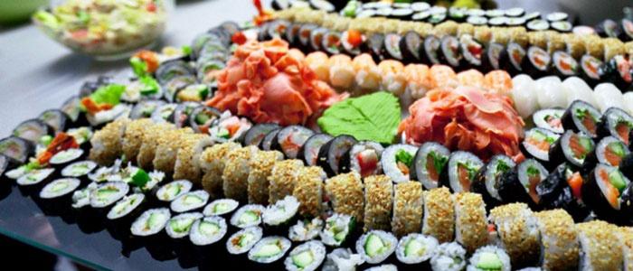 Суши для японского свадебного меню