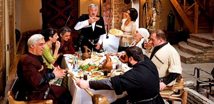 Свадебный застольный конкурс – грузинский тост