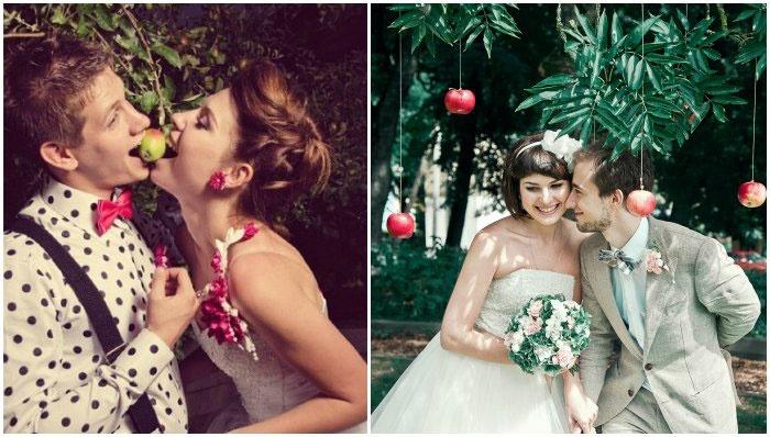 Свадебная застольная игра – яблоко раздора