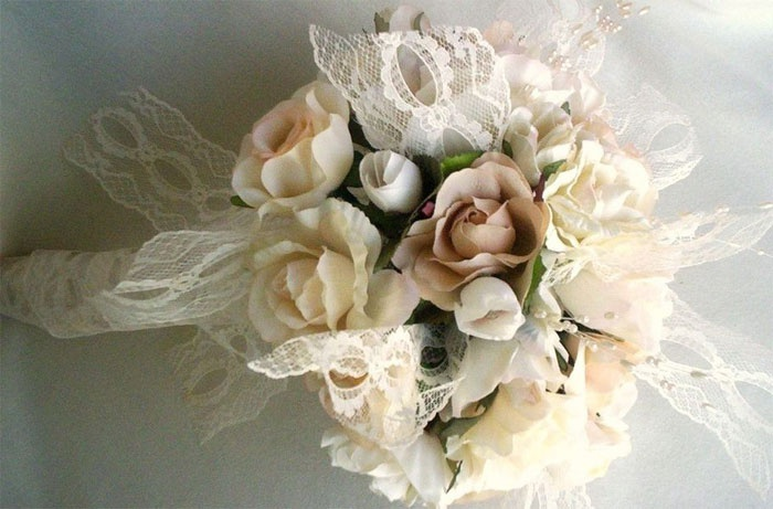 Айвори букет невесты