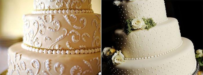 Стиль айвори: свадебный торт