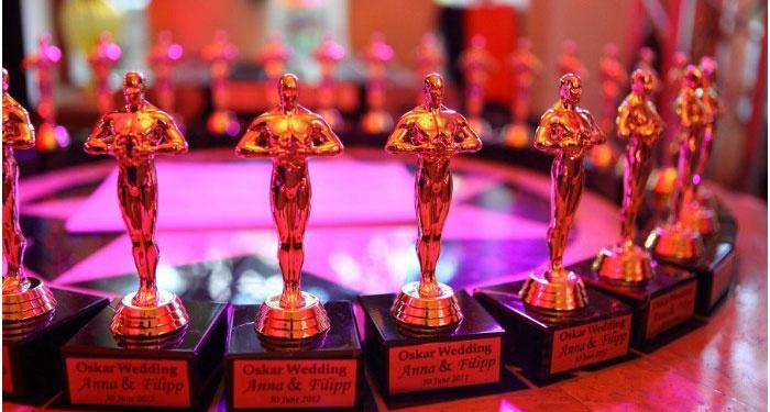 Статуэтки для гостей свадебной церемонии стиля Оскар