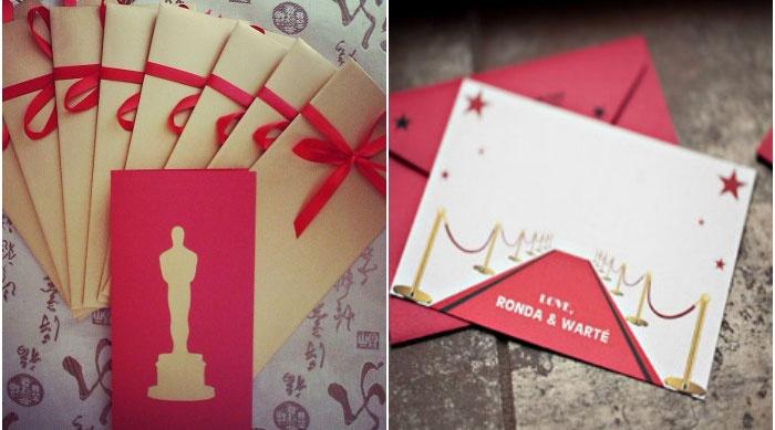 Пригласительные открытки в стиле Оскар