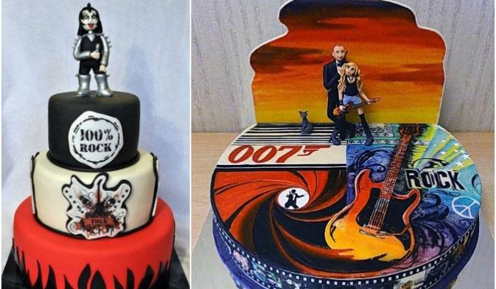 Торт в стиле рок
