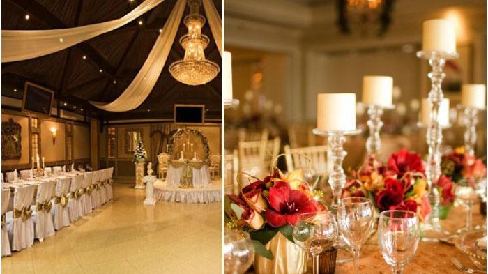 Цвета банкетного зала венецианской свадьбы