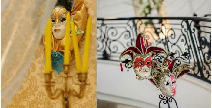 Роскошные детали декора венецианского торжества