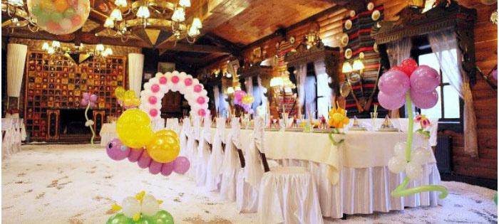 Воздушные шары – украшение для венецианской свадьбы