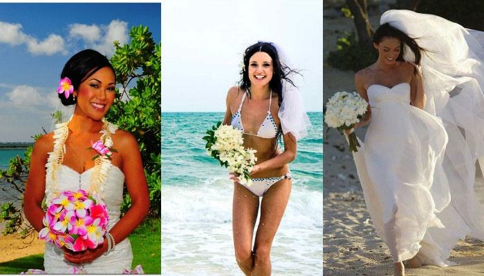 Свадебный образ невесты в гавайском стиле