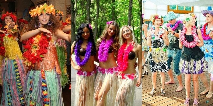 Гавайские наряды для гостей
