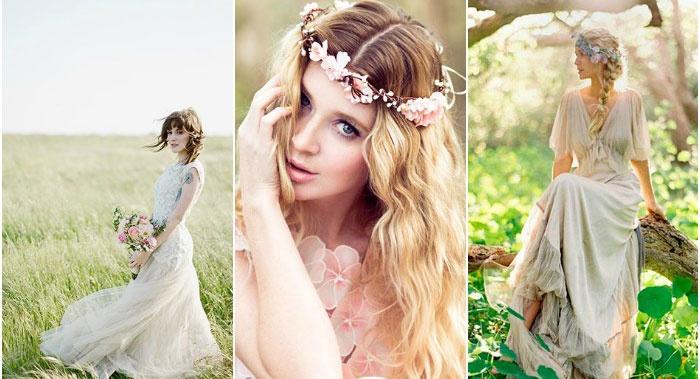 Образ невесты рустик