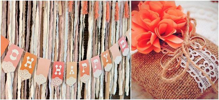 Элементы украшения свадьбы в стиле рустик