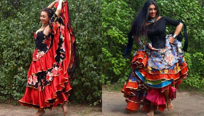 Классический цыганский свадебный наряд