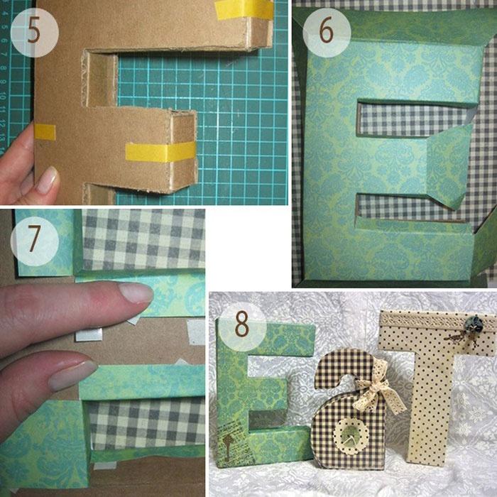 Объемные картонные буквы: пошаговая инструкция