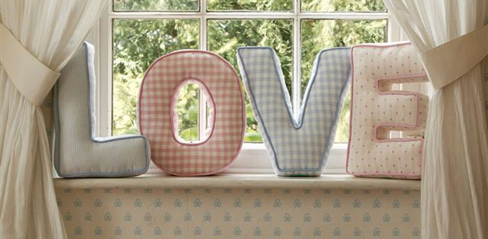 Тканевые буквы на свадьбу