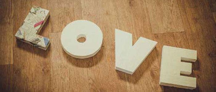 Пенопластовые объемные буквы для свадьбы
