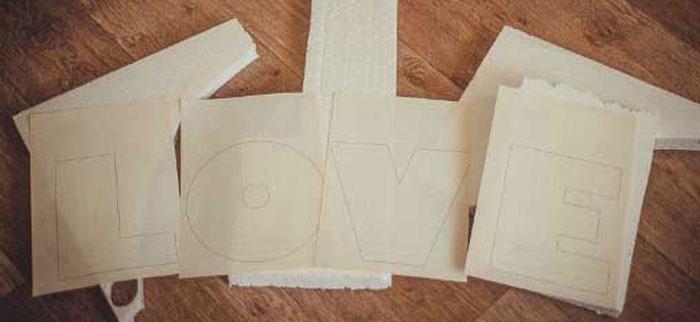 Этап создания пенопластовых букв своими руками