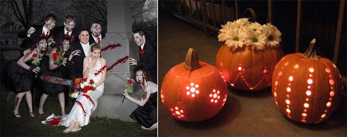Осенняя свадьба по мотивам Хэллоуина