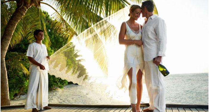 Образ мальдивского жениха и невесты