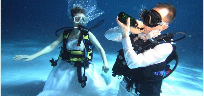 Мальдивская свадьба под водой