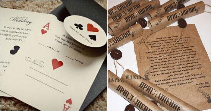Пригласительные открытки на свадьбу стиля Чикаго