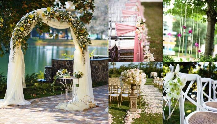 Декор для брачной церемонии в замке