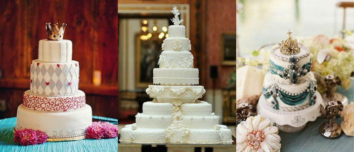 Вариант оформления торта для торжества в замке
