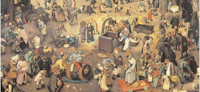 Картина с изображением жителей средних веков