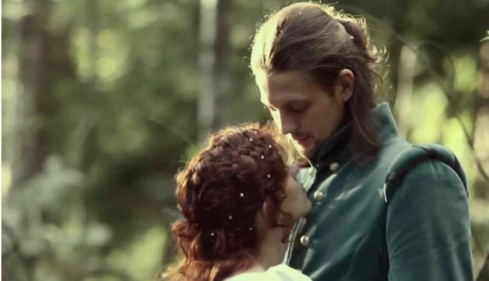 Романтичная фотосессия для свадьбы средних веков