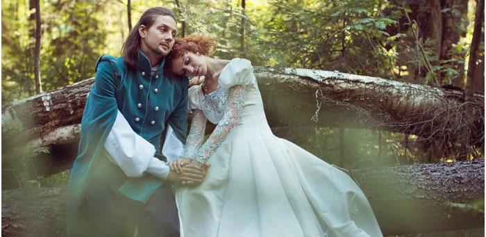 Красивые образы жениха с невестой на свадьбе