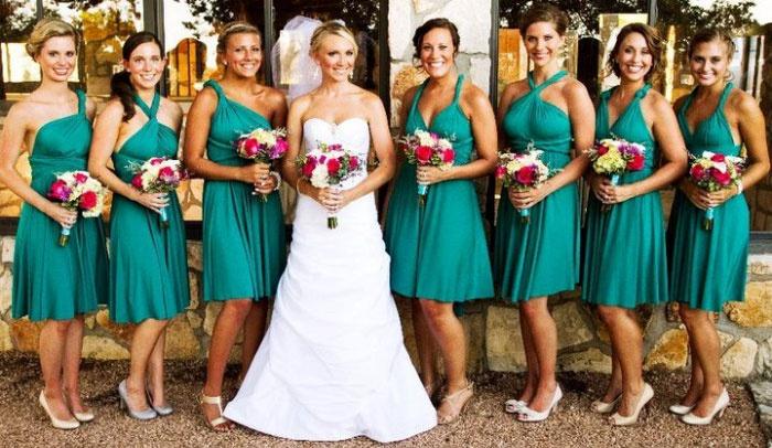 Платье-трансформер для подружек новобрачной