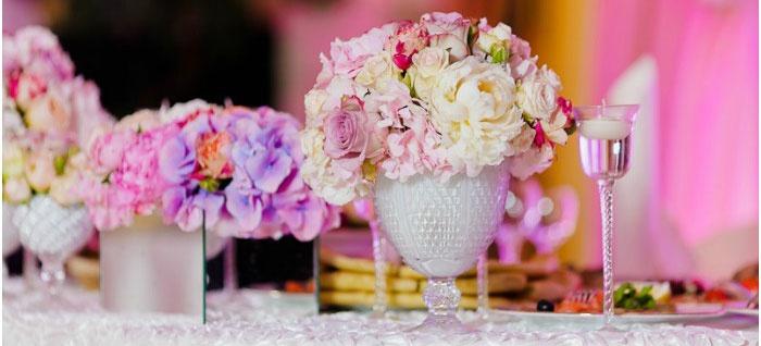 Цветы – основной элемент декора ампир