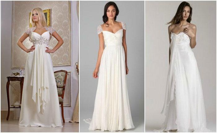Платья в стиле ампир для свадьбы