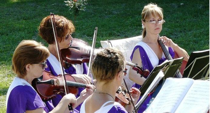 Классическая музыка – украшение свадьбы ампир