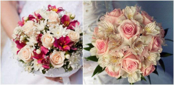 Красивый праздничный букет с розами
