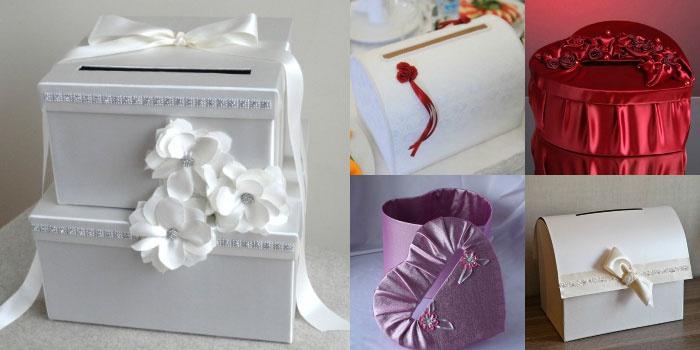 Варианты оформления свадебного сундучка для денег