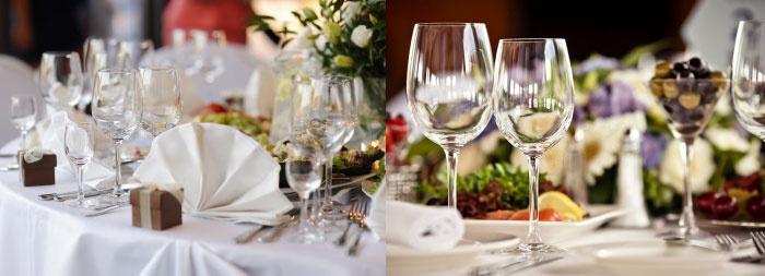 Оформление стола на стеклянную свадьбу