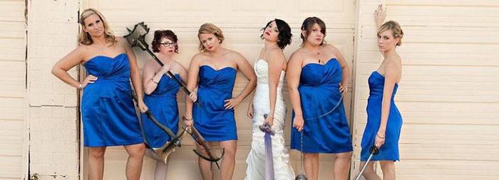 Тематическая свадьба с курьезными фото