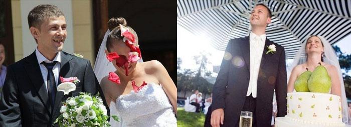 Смешной фото-курьез с невестой