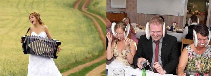 Смешные фото-ракурсы на свадьбе