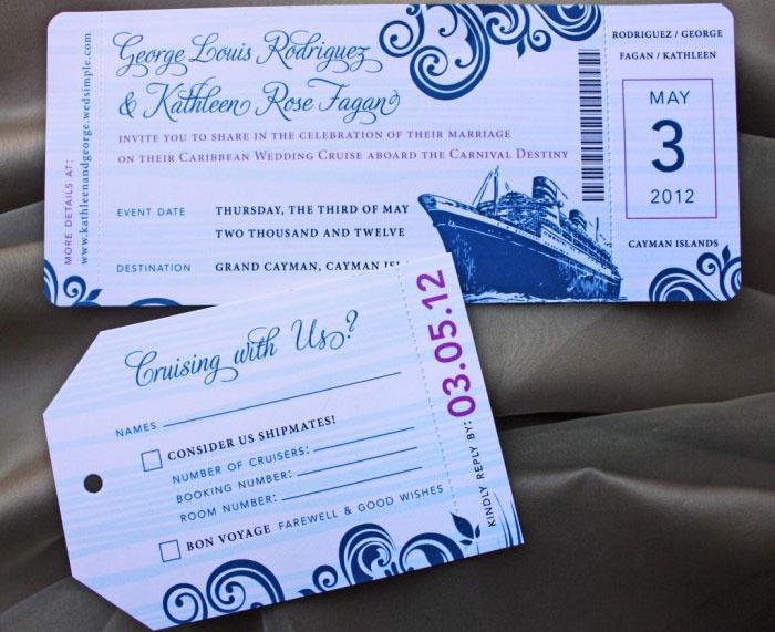 Приглашение-билет на лайнер
