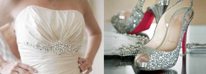 Свадебные платья с блестками