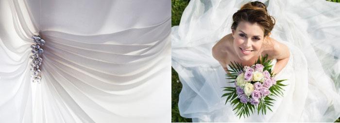 Отделка платья люрексовыми нитями