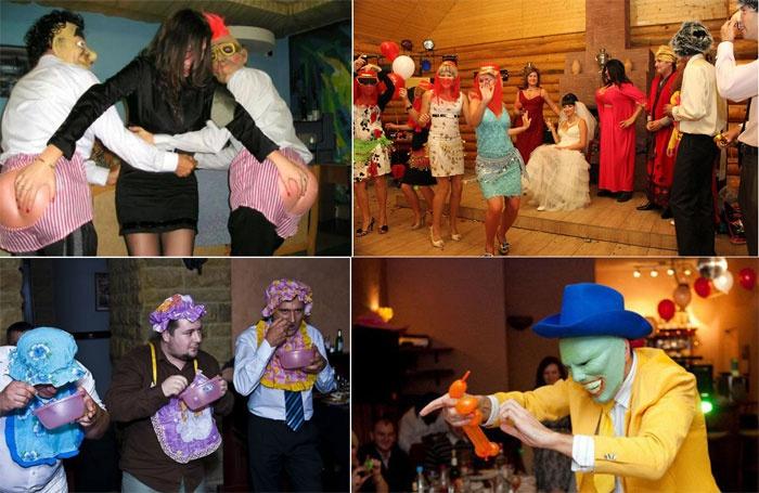 Организованные тамадой свадебные конкурсы
