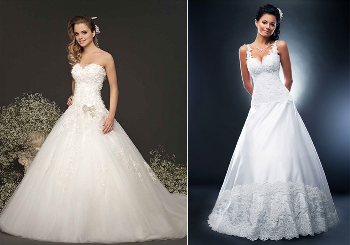 Классическое платье невесты