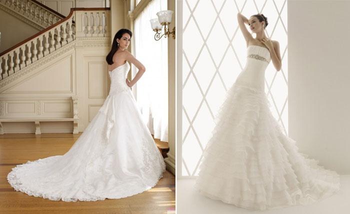 Воздушное платье на свадьбу со шлейфом