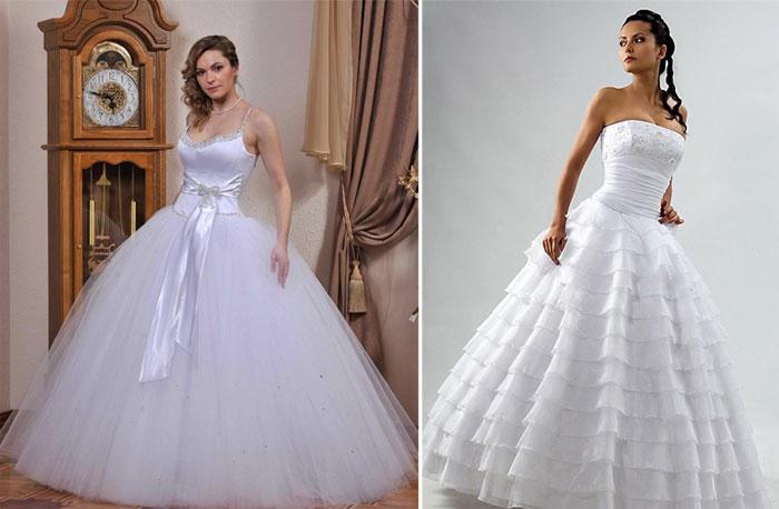 Белоснежный классический наряд невесты