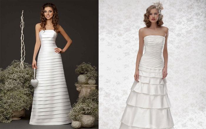 Прямой крой свадебного платья