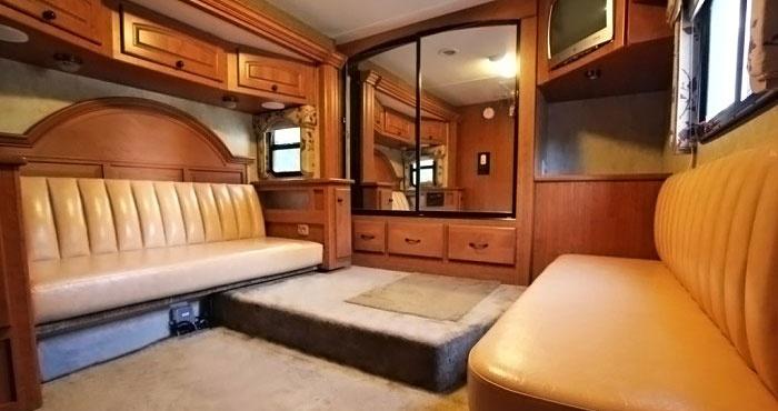 Комната отдыха в автобусе