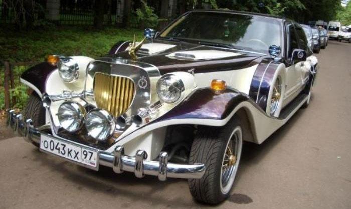 Свадебный автомобиль в тематике ретро