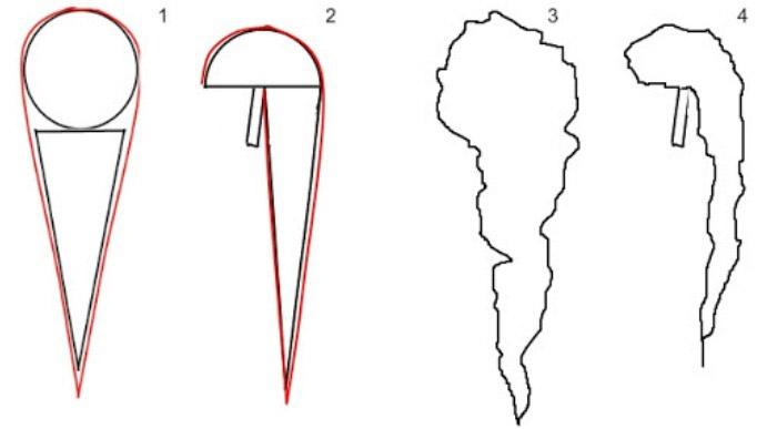 Геометричность красивого букета-каскада